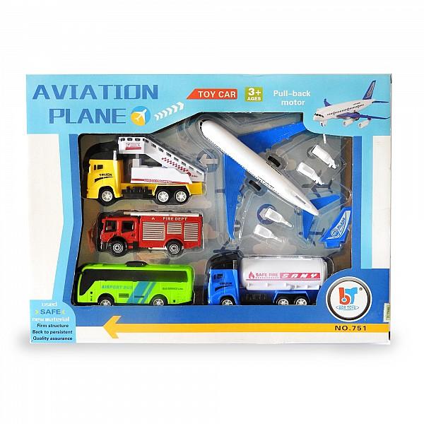 Set De Auto Y Avión