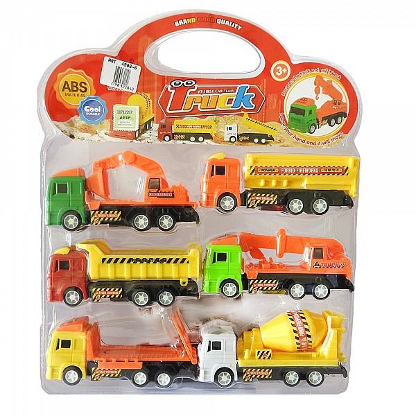 Set De Camiones De Construccion