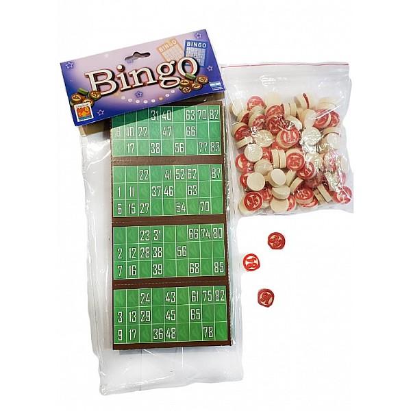 Juego De Bingo De Madera